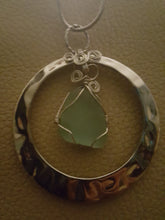 Load image into Gallery viewer, Seafoam Green Authentic Sea Glass With Hand Wire Wrap