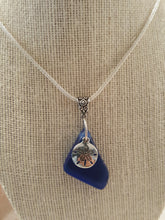 "Load image into Gallery viewer, Cobalt Blue ~ ""Nearly Triangular"" Seaglass Pendant"