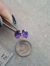 "Load image into Gallery viewer, Beautiful ""Zandrite"" Color Change~Blue To Purple/Lavendar, Stud Style Earrings"