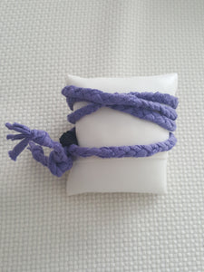 "Purple Braided Wrap Bracelet ~""She Leaves A Little Sparkle..."""