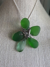 Load image into Gallery viewer, Custom~ Kelly Green Authentic Sea Glass Clover