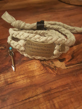 "Load image into Gallery viewer, Beige/Tan Hand Braided Bracelet~ ""Well-behaved women..."""