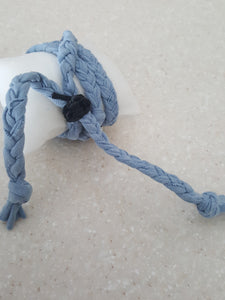 Nantucket Blue (Handmade) Stack Bracelet With Dragon Fly Buckle