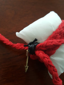"Red Hand Braided Wrap Bracelet With ""Stay Magical"" Horse Buckle"