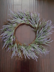 "29"" Lavender On Twig Decorative Wreath"