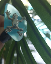 Load image into Gallery viewer, Froggy Seaglass Ring~Turquoise