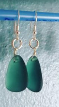 Load image into Gallery viewer, Sea Glass Earrings~Tear Drop Style