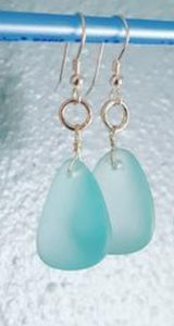 Sea Glass Earrings~Tear Drop Style