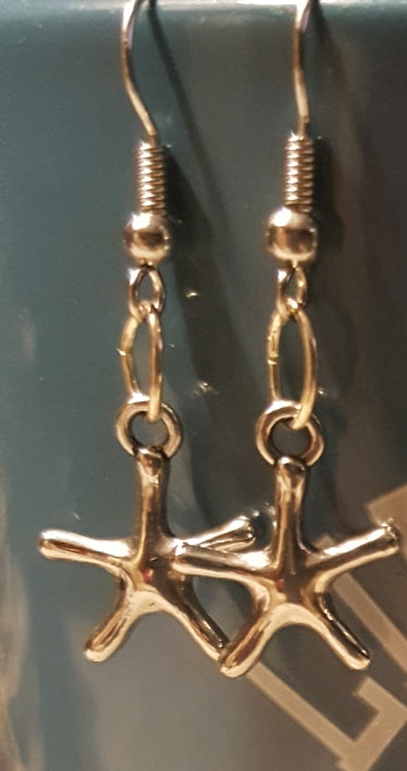Starfish Earrings~ Sterling Silver Plated