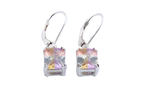 MEDIUM LUCKY STONE OCT DGL EARRINGS 10X8