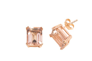 MEDIUM MORGANITE TOPAZ EARRINGS  10X8