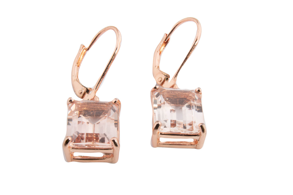 EX LARGE MORGANITE TOPAZ OCT DANGLE EARRINGS 12X10