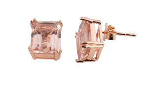 LARGE MORGANITE TOPAZ EARRINGS 12X10