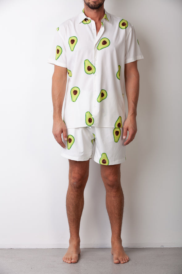 White Avo Breakfast Shirt Combo