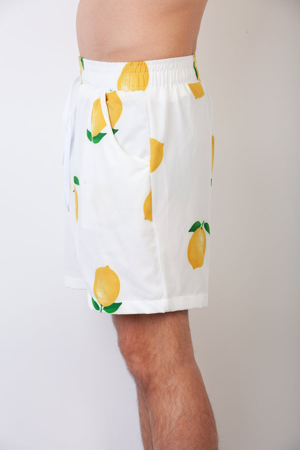 White Lemon Breakfast Shirt Shorts