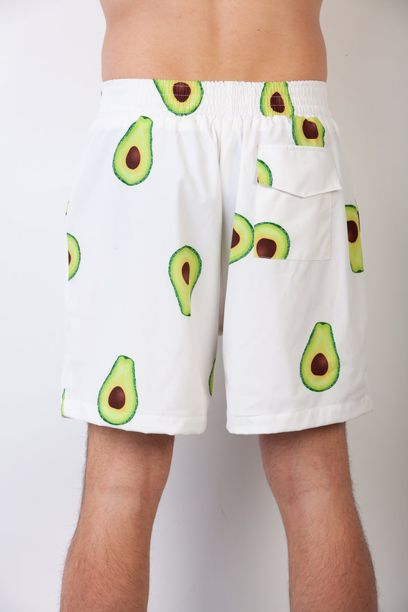 White Avo Breakfast Shirt Shorts