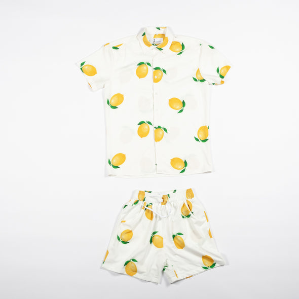 White Lemon Breakfast Shirt Combo