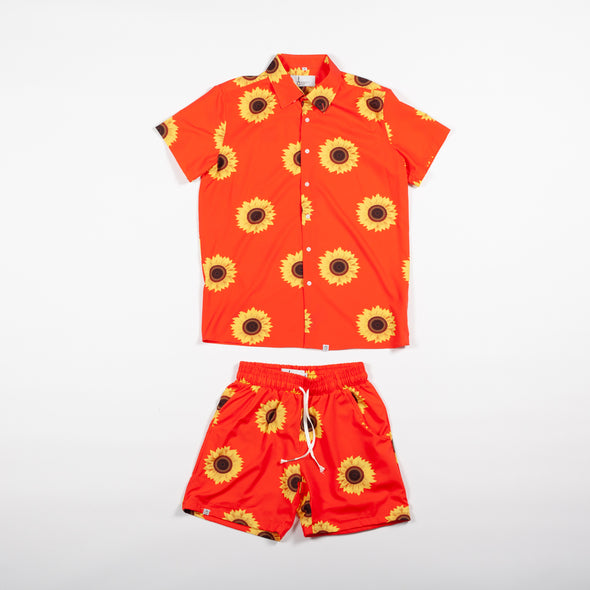 Orange Sunflower Breakfast Shirt Combo