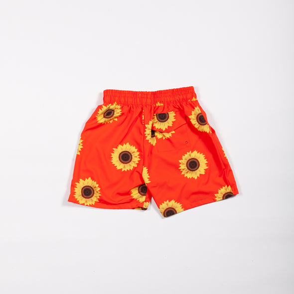 Orange Sunflower Breakfast Shirt Shorts