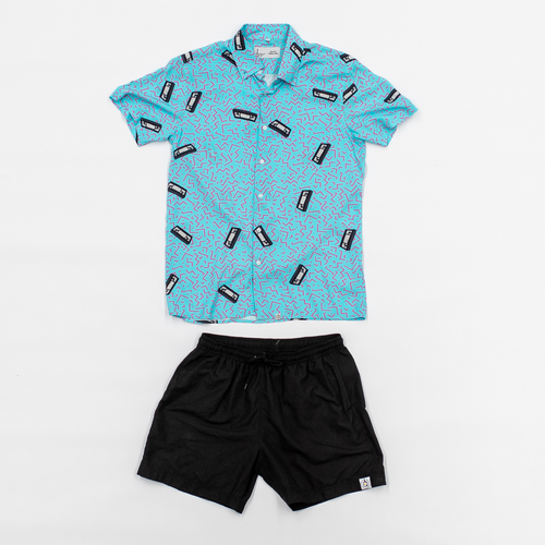 The VHS (Brent 50 Williams) Breakfast Shirt x Black Shorts Combo