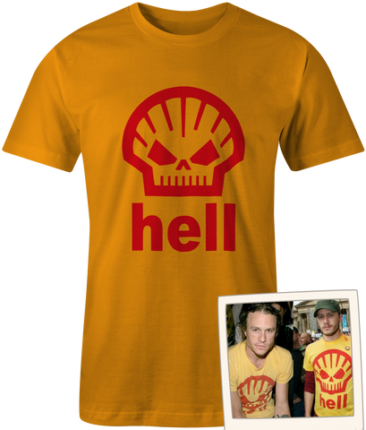 Shell Hell Protest!! Worn by Heath Ledger