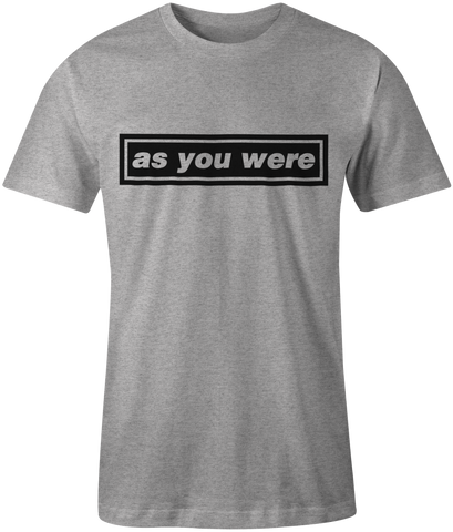 As You Were T-shirt - Oasis - Liam Gallagher