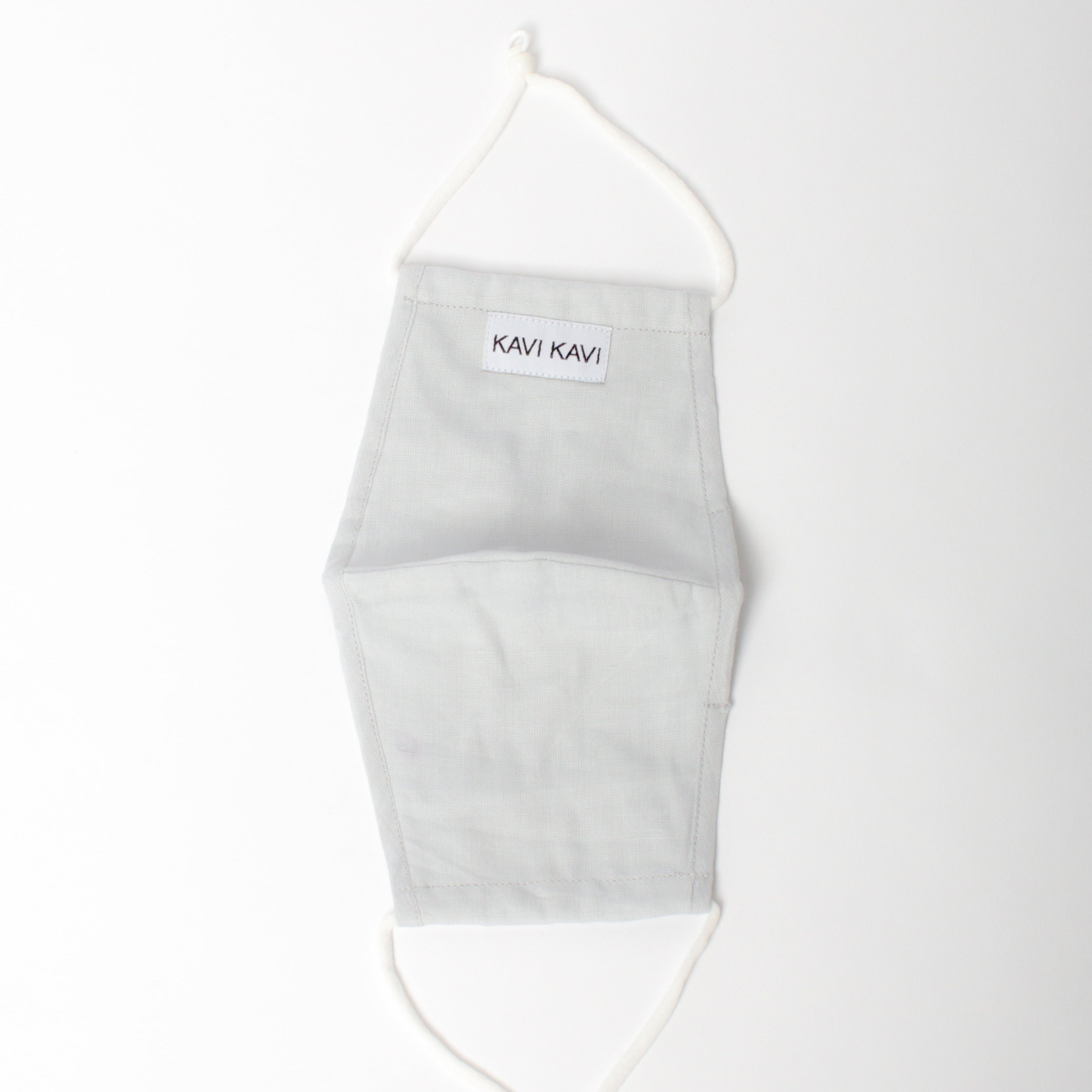 Light Grey 3 Layer Linen Mask