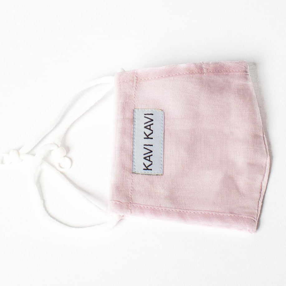 Light Pink 3 Layer Linen Mask