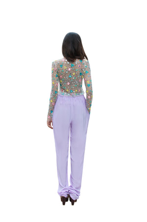 Embroidered Top & Drawstring Trousers