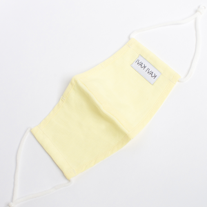 Lemon Yellow 3 Layer Linen Mask