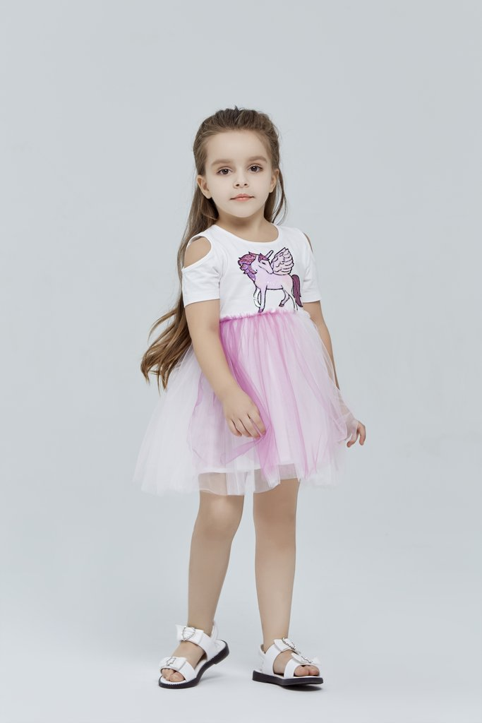 Doe a Dear Purple Ombré Unicorn Dress