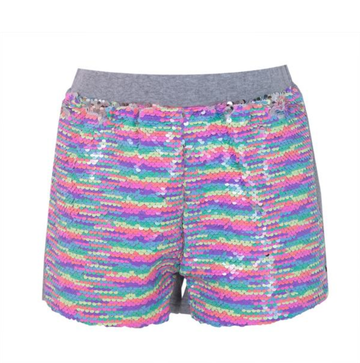 Lola and the Boys Neon Vibes Sequin Flip Shorts