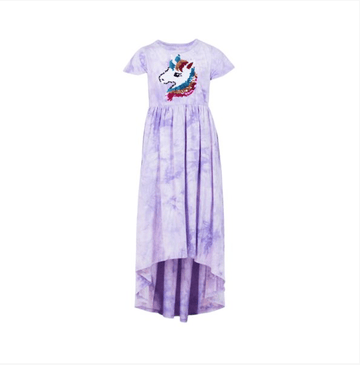 Lola and the Boys Tie Dye Unicorn High Low Dress