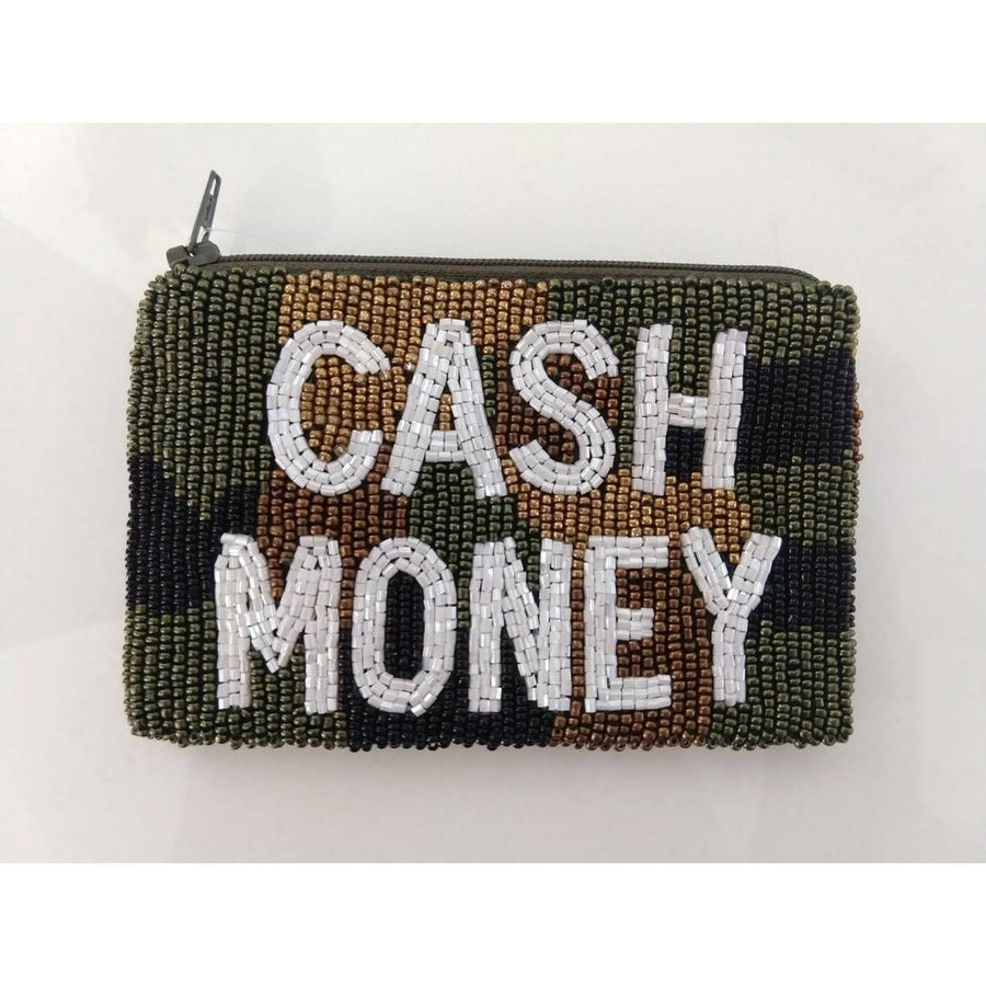 Tiana Designs Cash Money Camo Beaded Coin Purse