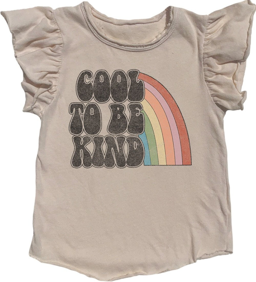 Cool to Be Kind Ruffle T Shirt