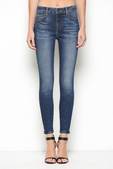 Hidden Jeans Dark Wash High Rise Clean Skinny