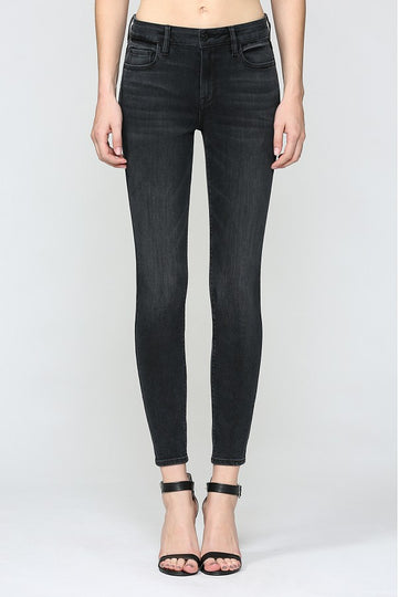 Hidden Jeans Black Mid Rise Clean Stretch Skinny