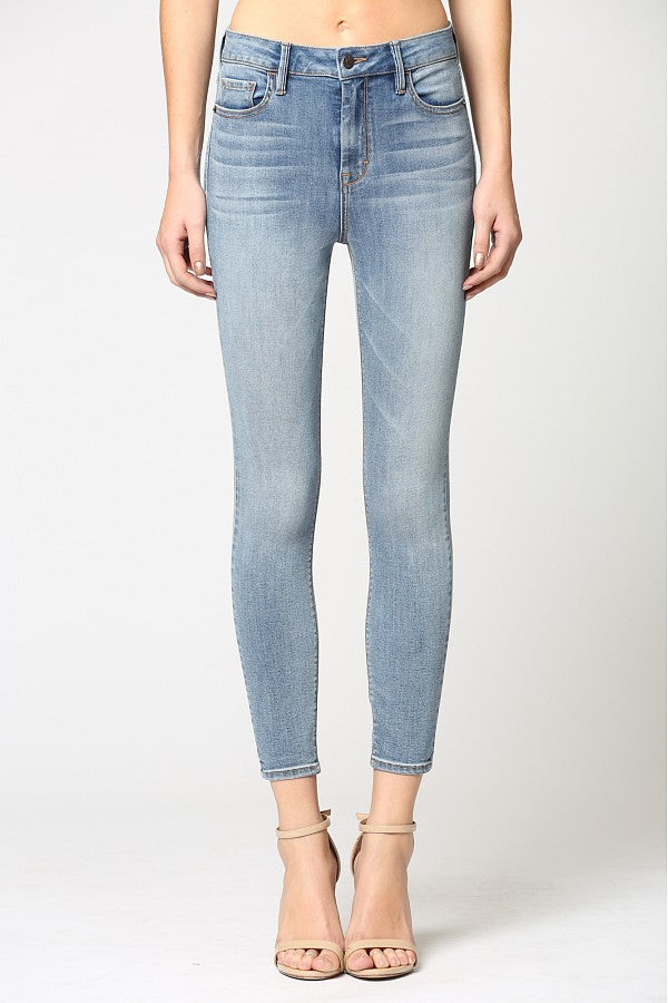 Hidden Jeans Light Wash Clean Stretch Skinny