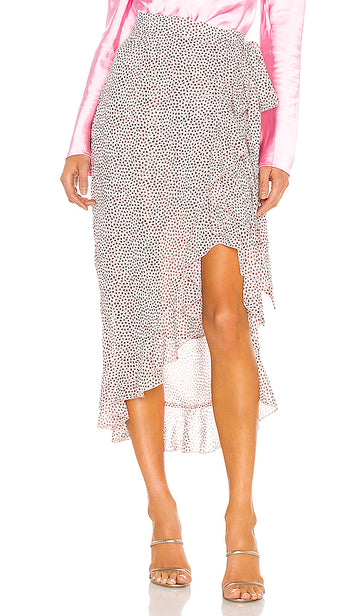 Sabina Musayev Nissa Skirt in Dotted Light Peach