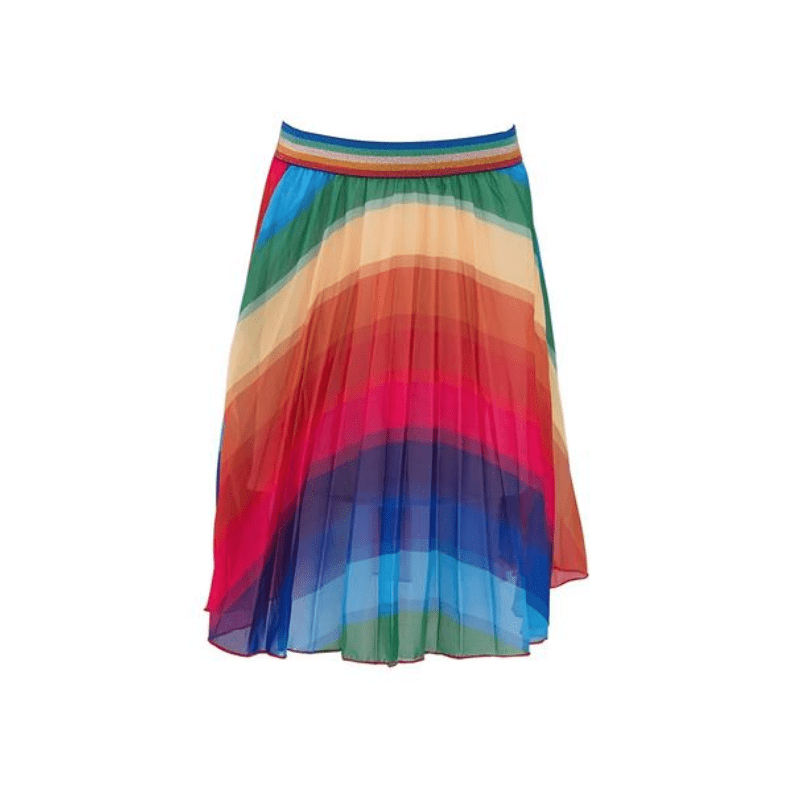 Lola and the Boys Rainbow Twirl Midi Skirt