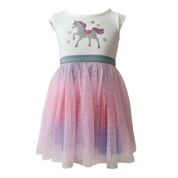 Lola + The Boys Crystal Unicorn Dress