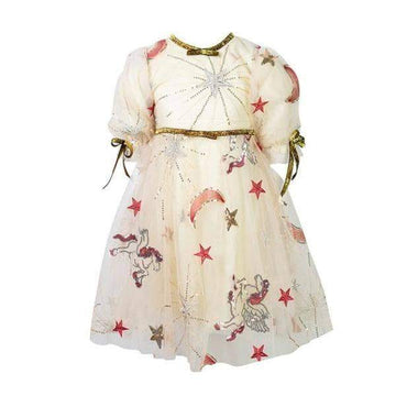 Lola + The Boys Golden Star Party Dress