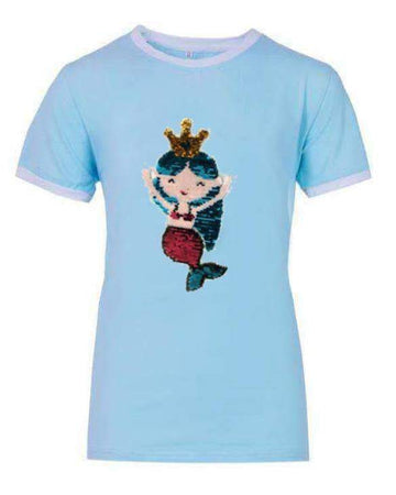 Lola and the Boys Mermaid Flip Sequin T-Shirt