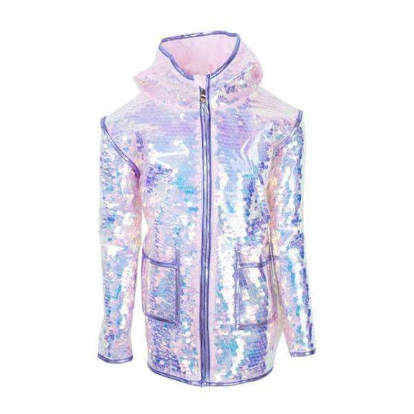 Lola + The Boys Paillette Magic Rain Jacket