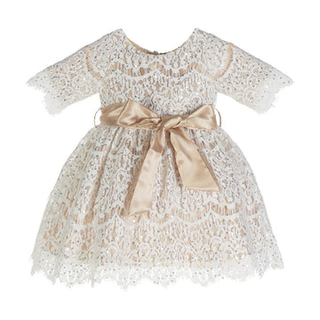 Luna Luna Jacquelin Lace Dress in Champagne