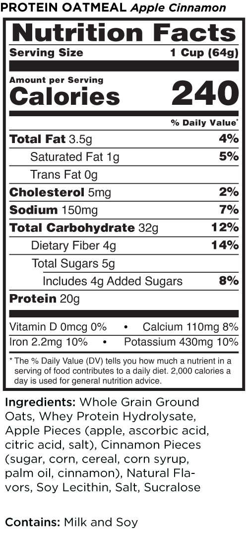 Apple Cinnamon nutrition facts