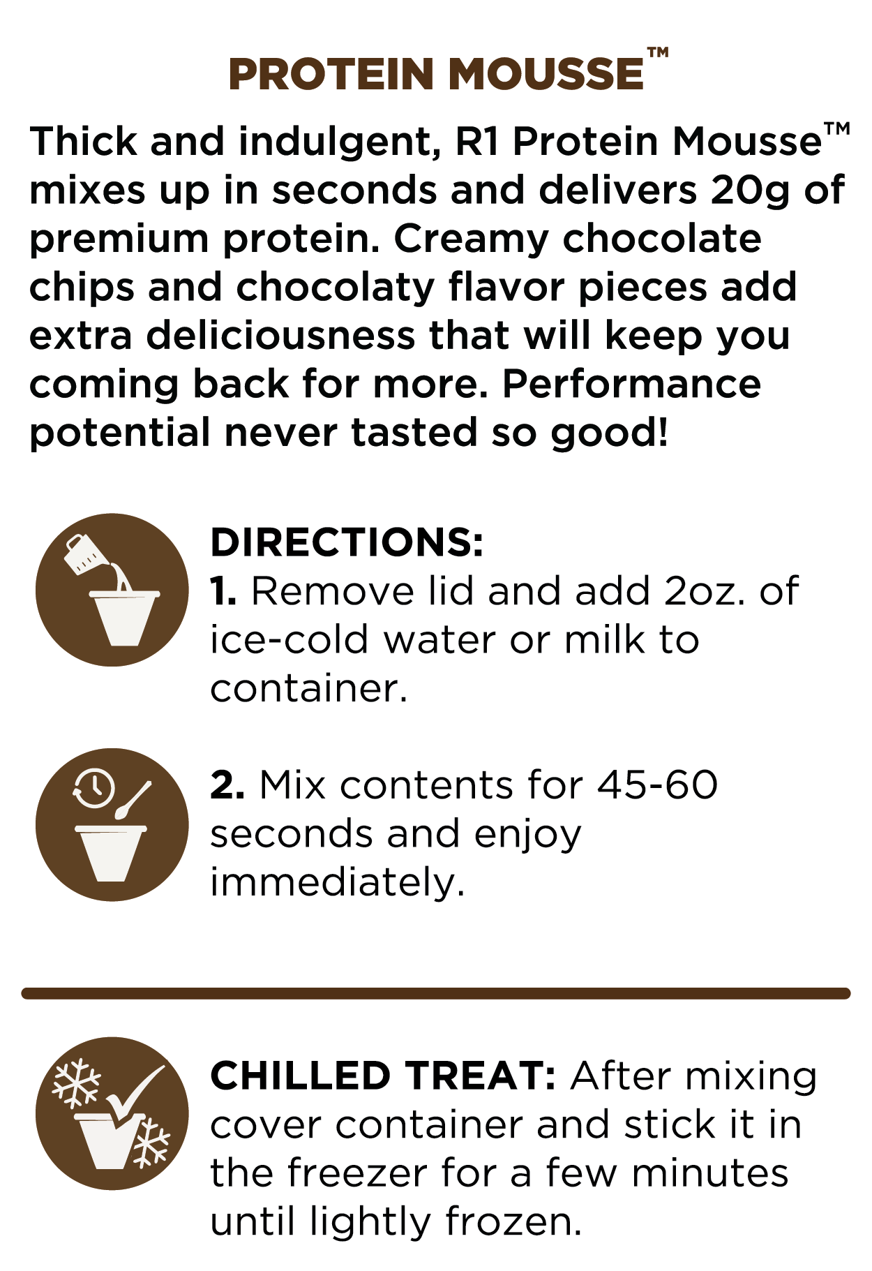 Protein Mousse Directions