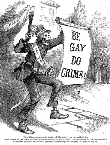 Nast cartoon altered by Io Ascarium - Be Gay Do Crime!