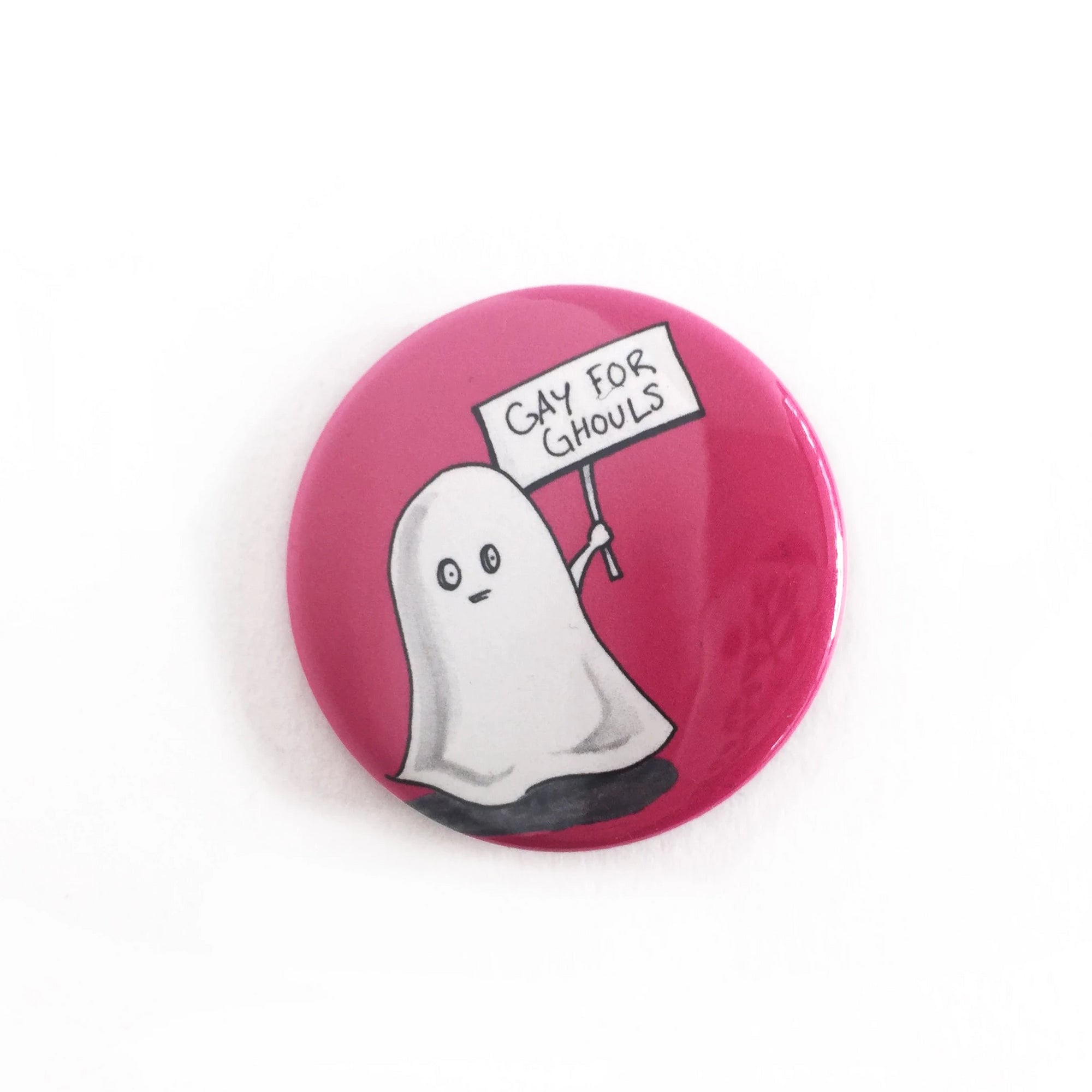 Gay for Ghouls Button