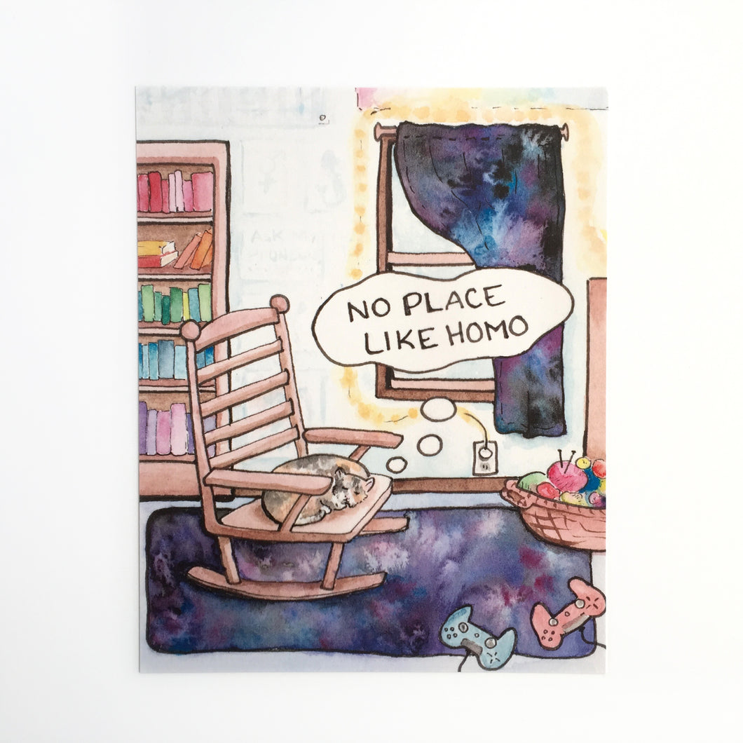No Place Like Homo Art Print